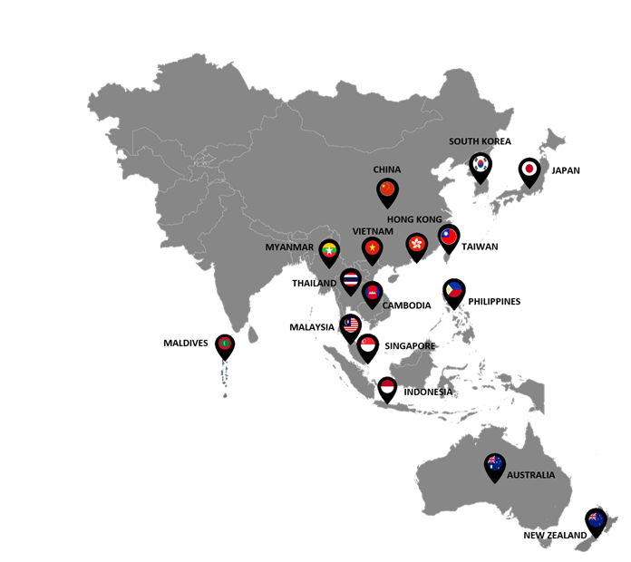 Map Of Southeast Asia Japan And Malaysia.Hvs Market Snapshot Asia Pacific 2018